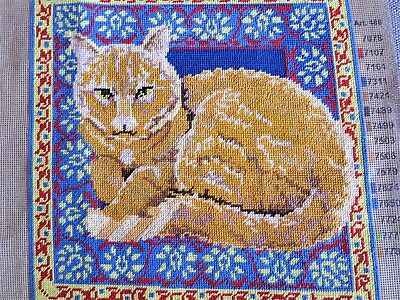 Tapestry panel of a marmalade cat