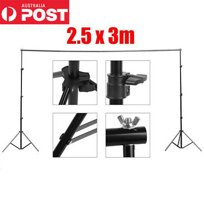 Heavy Duty Photography Photo Studio Background Backdrop Stand Kit w/ Free Bag