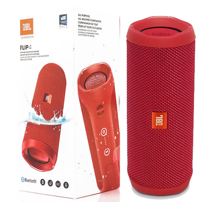 Cassa Portatile Speaker Bluetooth Wireless Jbl Flip 4 Rossa Impermeabile