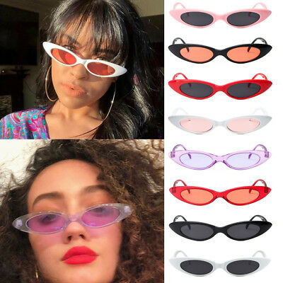 Vintage Retro Small Oval Frame Sunglasses Women's Shades Trendy Tiny Glasses