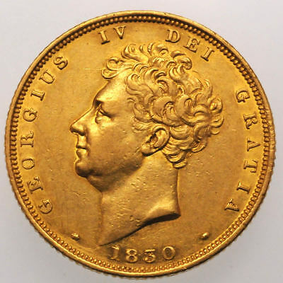 1830 George IV (Bare Head) Gold Sovereign