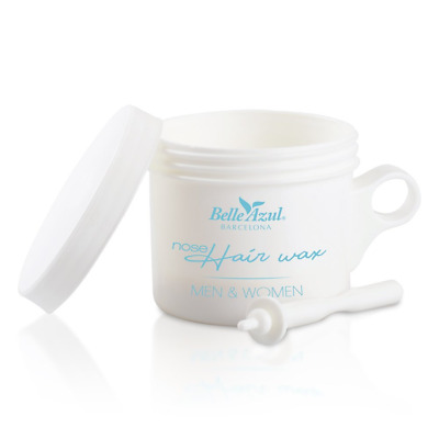 Belle Azul Nose Hair Wax – Kit d'épilation du Nez à la Cire d'Abeille Naturelle.
