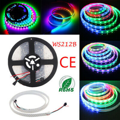 WS2812B RGB LED Strip Light 1M 144 60 5M 150 300 SMD Individual Addressable 5V
