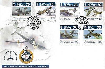 I O M 2010 70Th Anniversary Of The Battle Of Britain Set Fdc