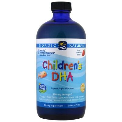 Nordic Naturals, Children's DHA, Strawberry, 16 fl oz (473 ml)