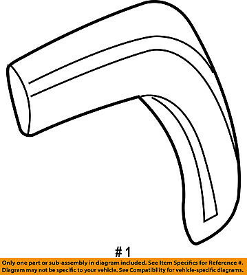 Jeep Chrysler Oem Liberty Wheel Well Fender Flare Arch Molding Right