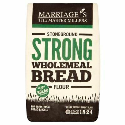 Marriage's Strong Stoneground Wholemeal Flour 1.5kg - (PACK OF 4)