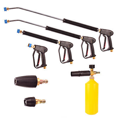 Easy Click Pressure Washer Set Gun Lance Nozzle Foamer for Karcher Kranzle M22
