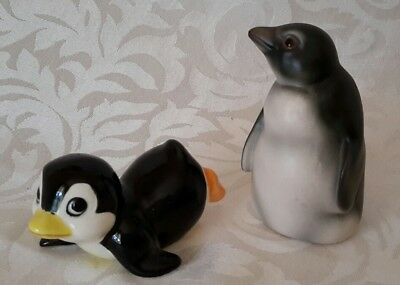 2x Vintage China Penguin Figures . Exc. Condition . Berwick Vic