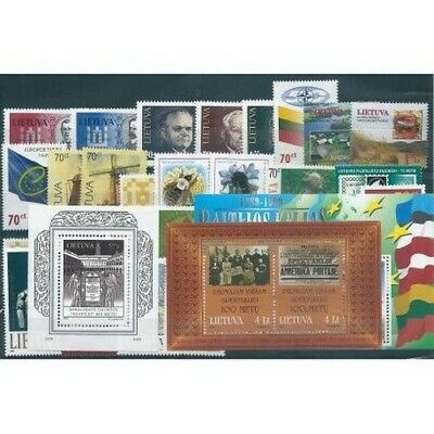 1999 Lithuania Lietuva Year Complete 29 Values And 3 Bf New Mnh Mf40688