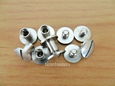 Book Binding Screws Posts Chicago Interscrews Nickel or Brass Slotted Connectors
