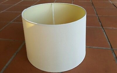Lampshade Drum Style Beige Cream Linen For Large Light Stand New