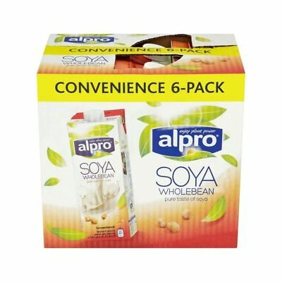 Alpro Longlife Unsweetened Soya Milk Alternative 6 x 1L - (Pack of 2)