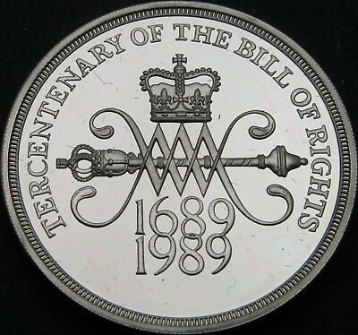 GREAT BRITAIN 2 Pounds 1989 Proof - Silver - Bill of Rights - 2375 ¤