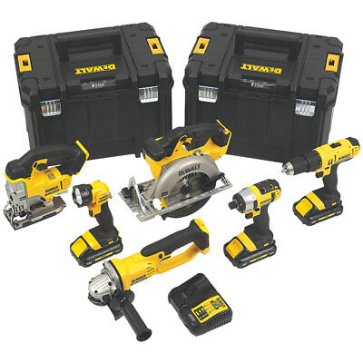DEWALT 6 PIECE KIT DCK677L3T-GB 18V 3x 3.0AH BATTERIES LI-ION XR CORDLESS SET