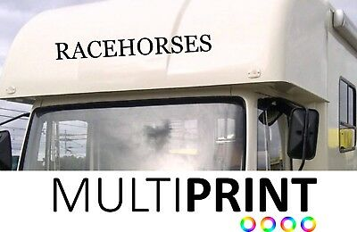 Racehorse Box Graphics Stickers Decals Self Adhesive Vinyl Decals Hor9