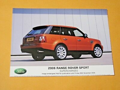 2006 Range Rover Sport Original Press Photo