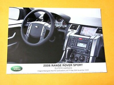 2006 Range Rover Sport Original Press Photo..