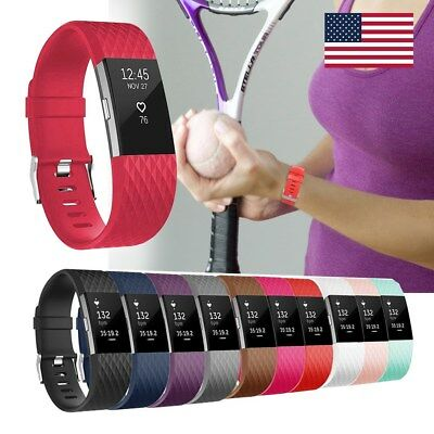 Silicone Watch Wrist Strap Bracelet Replace For Fitbit Charge 2 Band Wristband
