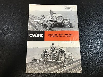 Original CASE Western Cultivators for 300 & 400 Tractors Dealer Sales Brochure
