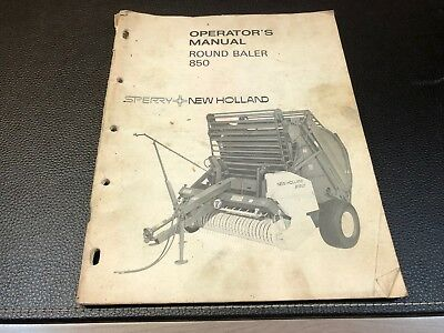Original NEW HOLLAND 850 Round Baler Owner's Operator's Manual