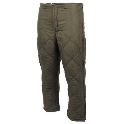 Austrian Army Surplus NATO Thermal Cold Weather Quilted Liner TROUSERS
