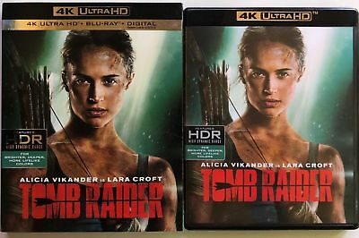 Tomb Raider 2018 4K Ultra Hd Blu Ray 2 Disc Set + Slipcover Sleeve Free Shipping