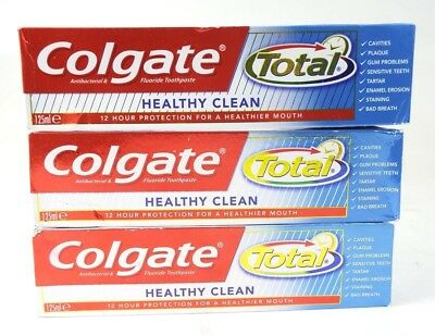 3 x Colgate Total Healthy Clean Toothpaste 125ml