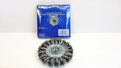 Campbell Hausfeld WT2151 4 inch Twisted Wire Wheel Brush  2 Pack