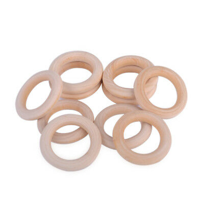 10x 55mm Natural Wooden Loop Unfinished Circle Round Rings DIY Jewellery Crafts