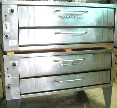 Bakers Pride Natural Gas Double Stacked 451 452  Pizza Ovens New Stones