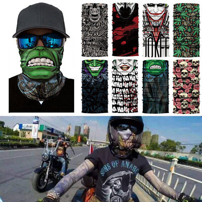 Sports Funny Half Face Mask Clown Bandana Seamless Riding Scarf Warmth