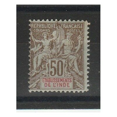 India Francese   1900-7  Allegoria   1 Val Mlh  Mf55095