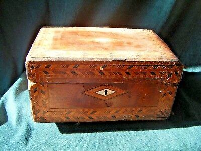 Antique marquetry/mother of Pearl wooden box