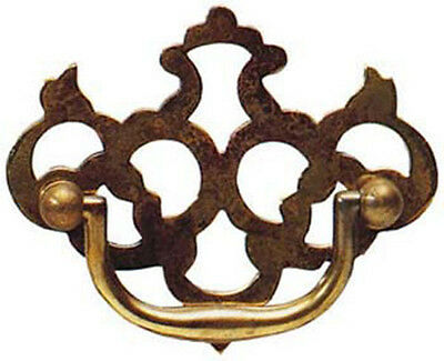 "3"" Antique Style Solid Brass Fretted Plate Drawer Handle 1529A/A"
