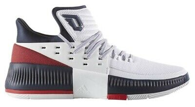 finest selection c56a6 5cd00 BY3762 Mens Adidas Dame 3 Damian Lillard Basketball Sneaker - White Red  Navy