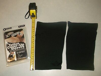 New Tatjacket Ike Jacket Tatoo Cover Up Sleeves Contains 2 Sleeves Large Black