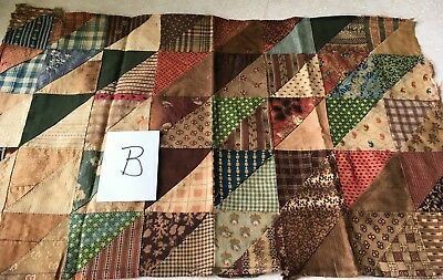 Very Old Quilt Block, 16 x 26 inches,  (B)