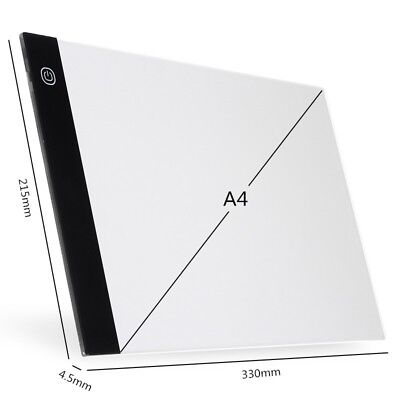 A4 LED Tracing Board Copy Pads Drawing Tablet Panel Writing Light Box Acrylic