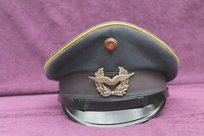 RETRO 70s WEST GERMAN GERMANY MILITARY AIR FORCE OFFICER VISOR HAT CAP SIZE 59
