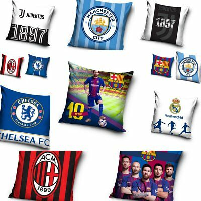 Football Club Cushion Covers Chelsea Barcelona Messi Real Madrid Juventus Milan