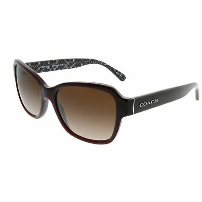 484724a31cac7 Coach HC 8232 L1010 550913 Oxblood Plastic Sunglasses Dark Brown Gradient  Lens