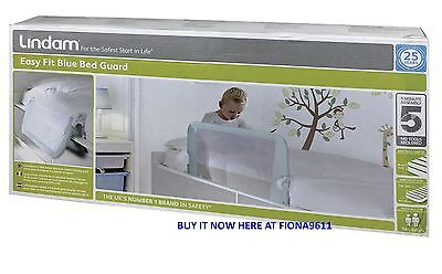 Lindam Easy Fit Baby Toddler Safety Bed Guard Blue *brand New & Sealed Box*
