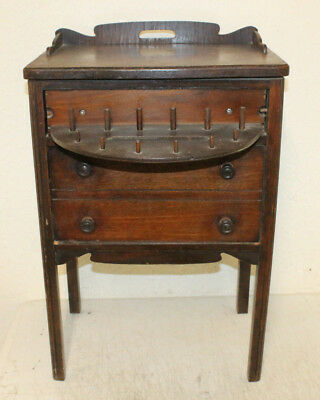 Antique Sewing Thread Cabinet