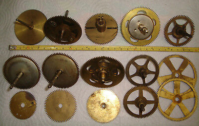 Lot of 15 HEAVY Clock Wheels Gears for Clockmaker Repairers Hobbiest ~ L417