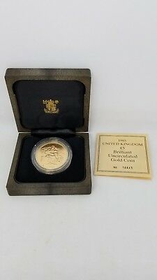 1985-Gold-Great-Britain-5-Sov-Pound-UK-BRILLIANT UNCIRCULATED GOLD 1.41 OUNCES