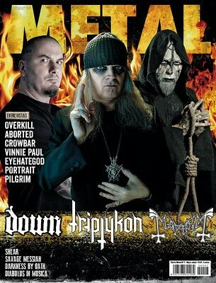 This is Metal Magazine Spain Issue 07, 2014, Tom G.Warrior Triptykon Mayhem Down