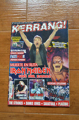 Kerrang Magazine Spain 148 - March 2003 - Iron Maiden, KISS Poster, Placebo, Axl