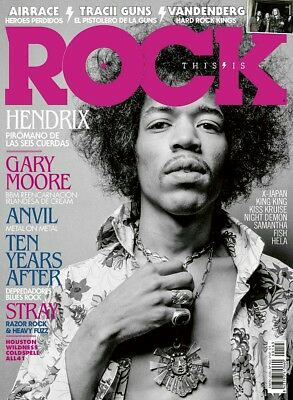 This is Rock Magazine Spain Issue 163 January 2018 - Jimmy Hendrix, Gary Moore