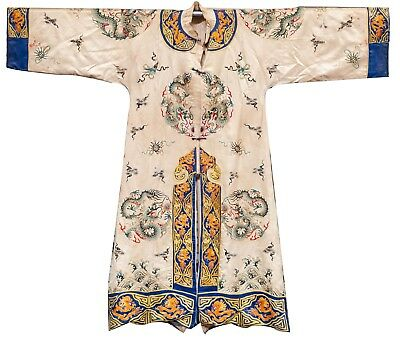 19th Chinese Antique Robe with Dragon Embroidery CB1199S